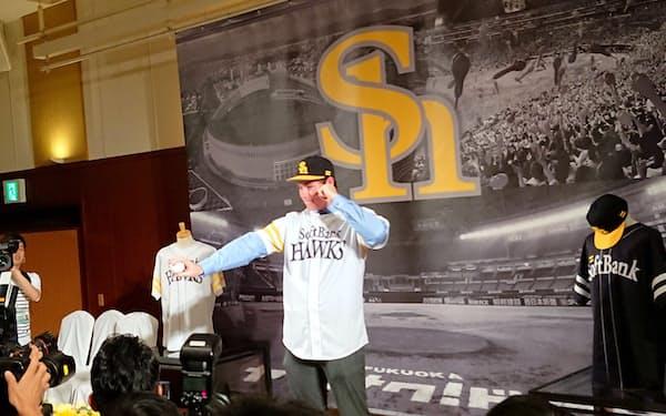 米大リーグの有力ドラフト候補だったスチュワート投手入団は「世界一」に向けた布石の一つ(6月、福岡市)