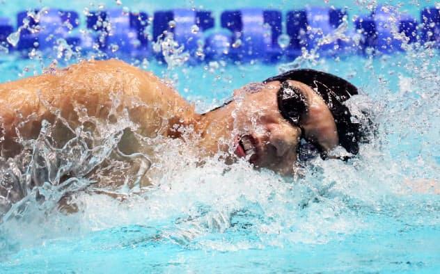松元が銀メダル 世界水泳、200メートル自由形