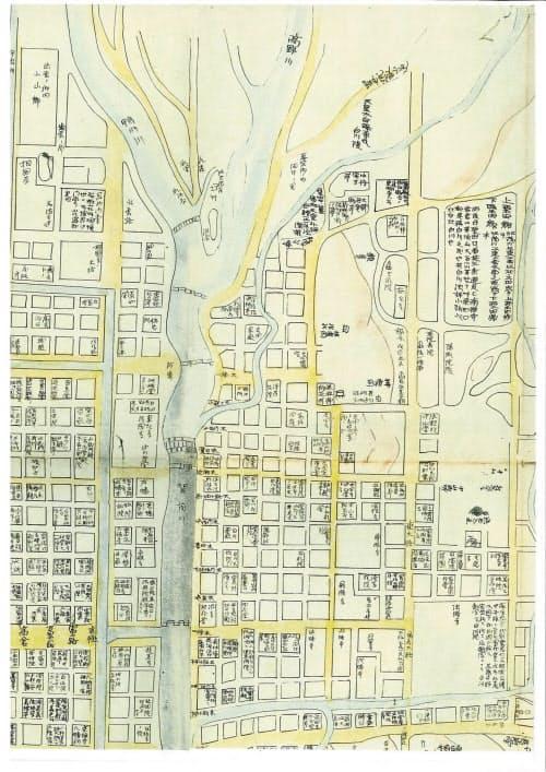 平安時代から応仁の乱までの約700年間の京都の様相を一枚の地図に再現した「中古京師内外地図」(寛延3年、1750年)にも「糺河原」の地名が記されている