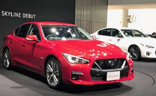 日産自動車は次世代車の市場投入に力を入れる(写真は自動運転の機能を載せた新型スカイライン)