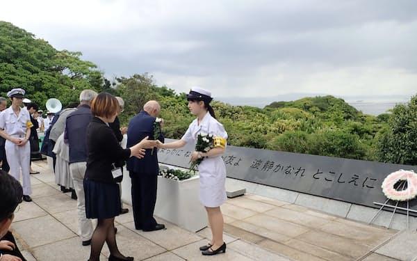 5月15日に開かれた戦没・殉職船員追悼式(神奈川県横須賀市)