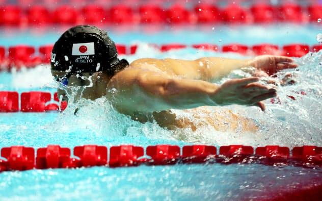 瀬戸が自己ベストで銀メダル 世界水泳、男子200バタ
