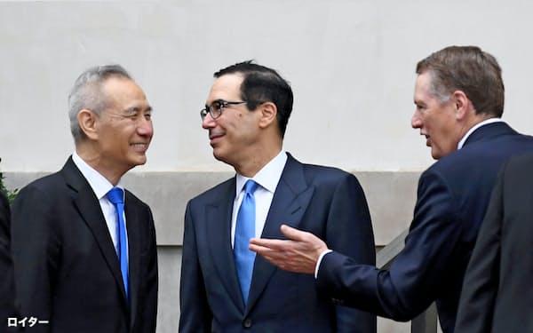 中国は上海での閣僚級協議で「金融開放」のアピールを狙う(5月のワシントンでの協議)=ロイター