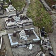 倒壊した墓石の割合をもとに震度を推定(山形県鶴岡市)