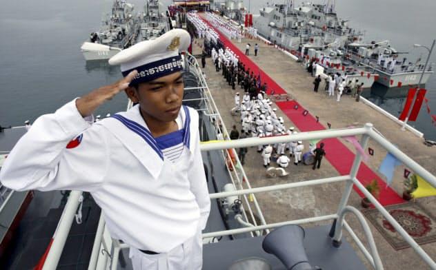 カンボジアのリアム海軍基地。中国は同基地の軍事利用でカンボジア政府と合意したとの疑惑も浮上している=ロイター