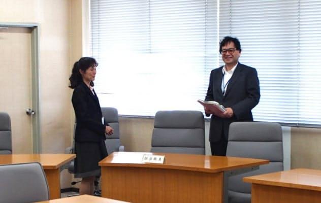 あっせんが開かれる埼玉県労働委員会の審問室(さいたま市の埼玉県庁第三庁舎)