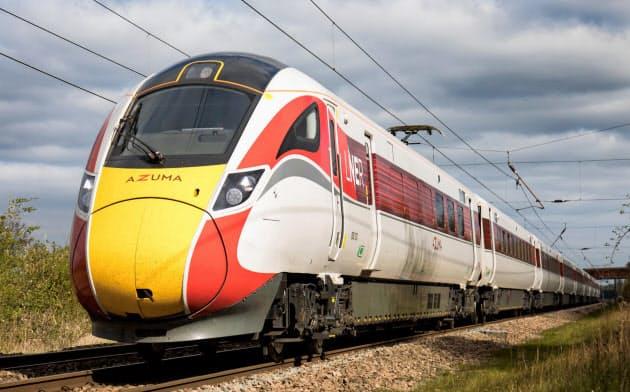 英国の高速鉄道を走り始めたAZUMA(日立製作所提供)
