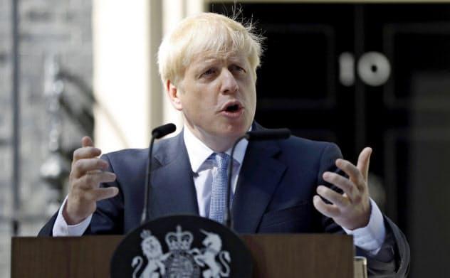 英国の新首相に就任したボリス・ジョンソン氏=AP