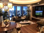 山手線内最大の住宅戸数1247戸を供給する「白金ザ・スカイ」のモデルルーム(29日、東京都港区内のモデルルーム)