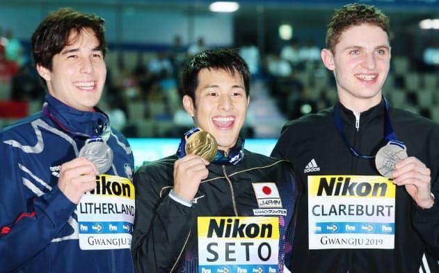 瀬戸が2冠、大橋が銅 世界水泳