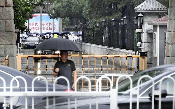 中国の李鵬元首相の告別式が行われた北京の八宝山革命公墓(29日)=共同