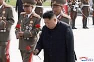 米国は北朝鮮のミサイル開発に絡んで追加制裁を発表した(写真は金正恩=キム・ジョンウン=委員長)=ロイター