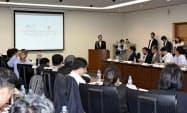 東京都内で開かれたアフリカ豚コレラへの対応を協議する国際会議(30日)=共同