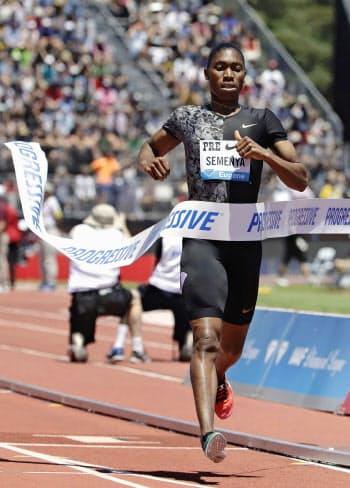 陸上女子800メートルで五輪2連覇中のキャスター・セメンヤ選手=AP