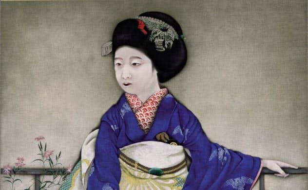 速水御舟「京の舞妓」(大正9年=1920年、東京国立博物館蔵)Image:TNM Image Archives =8月7日まで展示