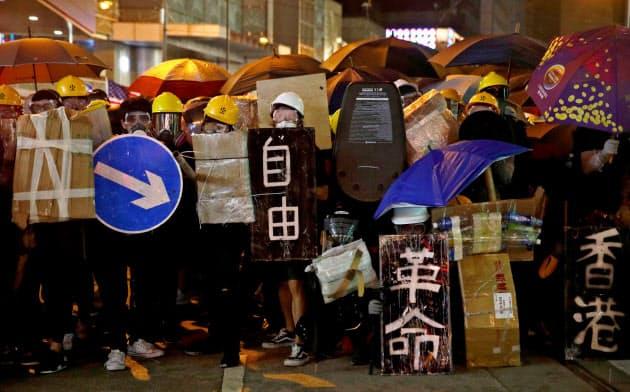 香港のデモは沈静化するどころかエスカレートしている=ロイター