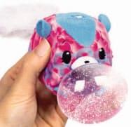 タカラトミーが8月3日に発売する動物のぬいぐるみ「ピクミーポップサプライズ!バブルドロップス!」