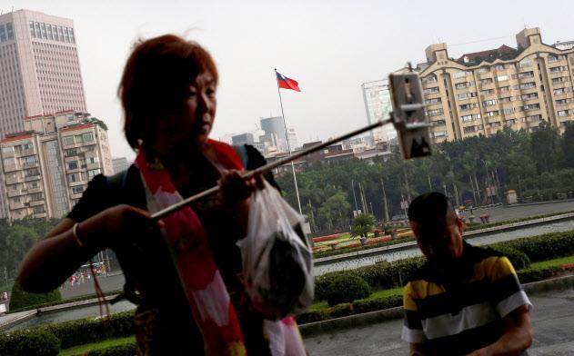 台湾を訪れた中国人観光客=ロイター