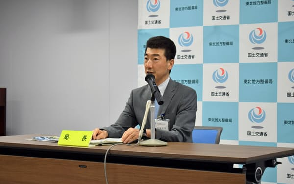 佐藤局長は「震災伝承にも一層取り組む」と抱負を語った(7月31日、仙台市)
