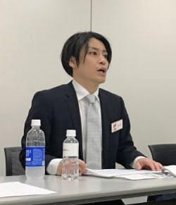 会見する村上浩輝CEO