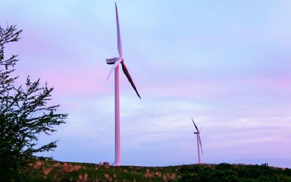 全国で37基の風力発電設備を運営している(北海道石狩市)
