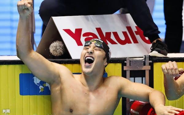 7月の水泳世界選手権は瀬戸大也を中心に男子の勢いが際立つ大会だった=共同