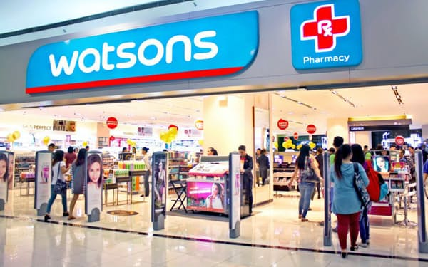 ドラッグストア「ワトソンズ」の運営などを手がけるCKハチソンは増益を確保した(同社ウェブサイトより)