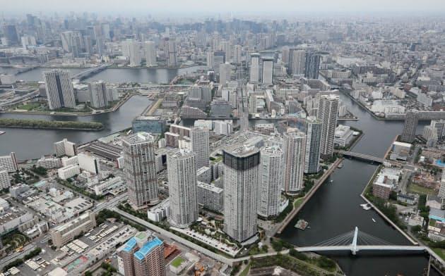 東京都内の高層マンション群