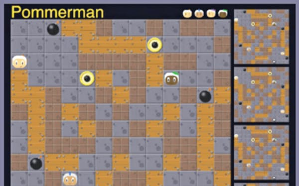 競技会で使うゲームの画面
