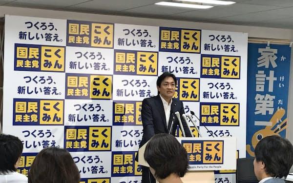 国民民主党の玉木代表は両院議員懇談会で選挙結果を振り返った(2日、党本部)