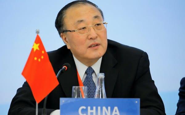 このほど中国の国連大使に就任した張軍氏(1月、北京)=ロイター