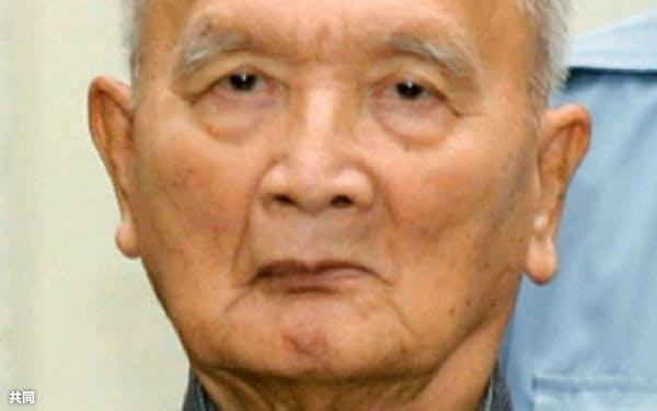 死去したヌオン・チア元人民代表議会議長=共同