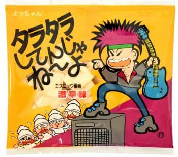 よっちゃん食品工業のスケソウダラを使ったピリ辛の駄菓子「タラタラしてんじゃね~よ」