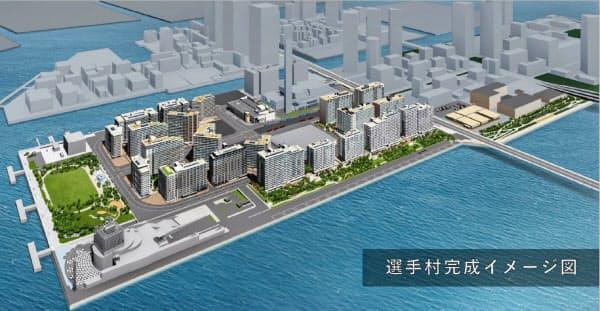 大会組織委員会が公開した選手村の完成イメージ=Tokyo 2020提供