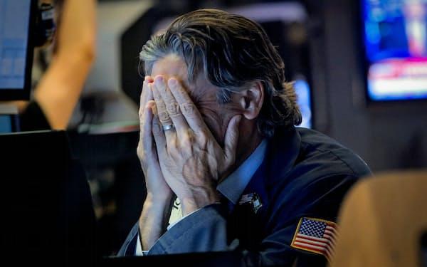 5日の米株式市場は全面安となった(5日、ニューヨーク)=ロイター