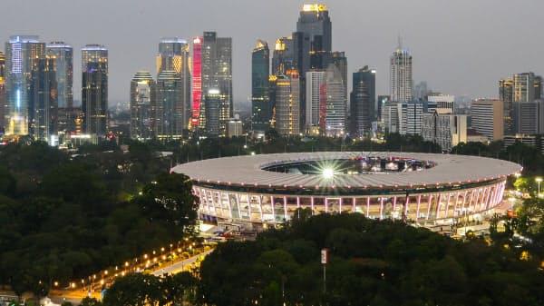 2018年アジア大会のメインスタジアム(ジャカルタ)=ゲッティ共同