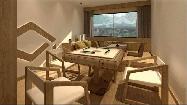 客室をマージャン部屋などに改装して集客(盒子空間提供、写真はイメージ図)