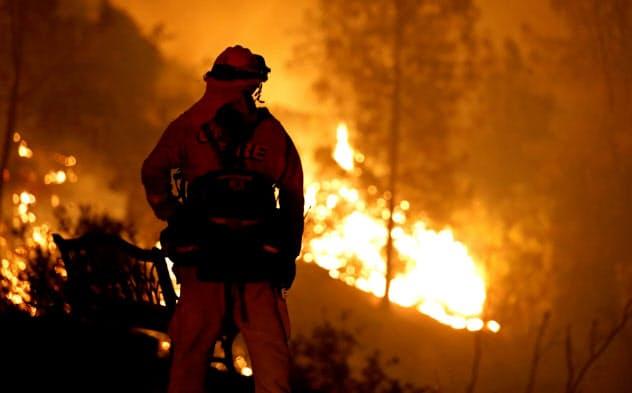 カリフォルニア州ではここ数年、PG&Eの設備が原因で起きたとされる大規模な山火事が相次いだ=ロイター