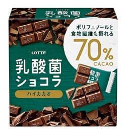 ロッテが自主回収するチョコレート「乳酸菌ショコラ カカオ70」