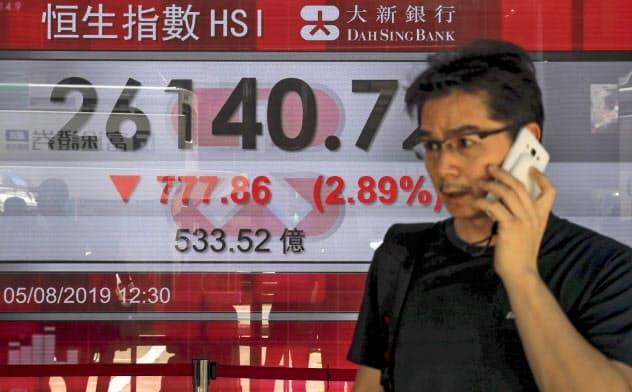 過去は抗議行動があっても香港と中国との関係が途絶することはなかったが…=AP