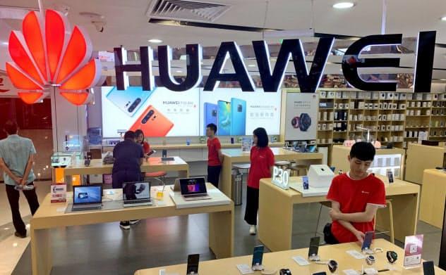 華為技術(ファーウェイ)製品の販売店(広州市)