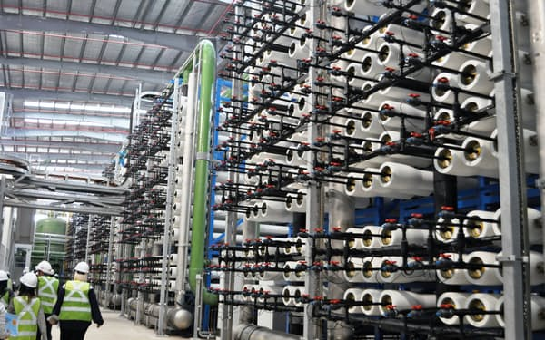 シンガポールの海水淡水化施設(西部トゥアス地区)