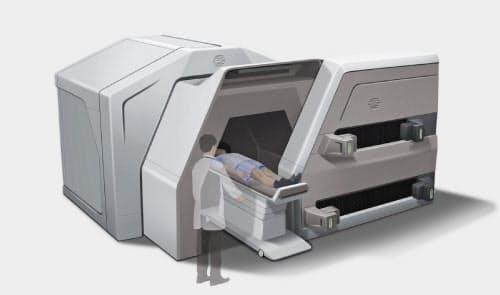 福島SiC応用技研が開発中の小型BNCT装置のイメージ図