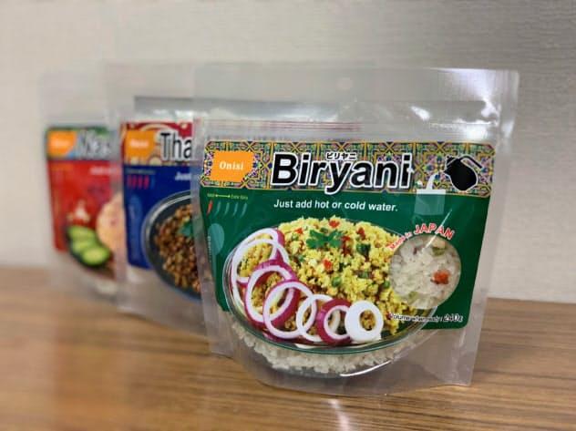 尾西食品(東京・港)がサウジアラビアのメッカで販売するハラル対応の携帯食