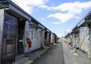 仮住まいする人が減少した熊本県益城町のテクノ仮設団地(12日)=共同