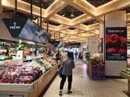 京東集団は実店舗の運営強化も急ぐ(北京市で運営する食品スーパー)
