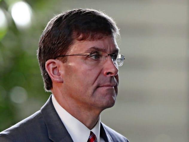 エスパー米国防長官は中国への強硬姿勢を示してきた=AP