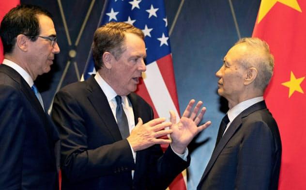 米中両政府は7月末に上海で閣僚協議を開いたが進展は乏しかった=ロイター
