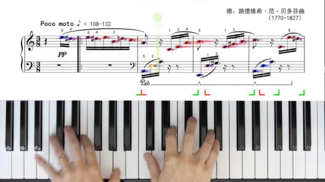 「楽意音楽」は再生すると楽譜上に演奏の過程が表示される(縁音科技提供)