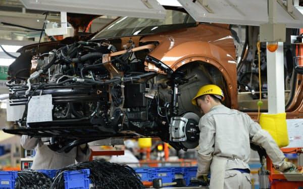 自動車や化学製品、非鉄金属の生産が振るわなかった